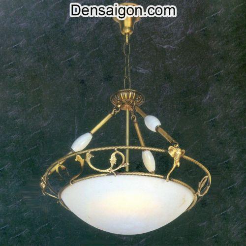 Đèn Chùm Đồng Chao Đá Đẹp - Densaigon.com