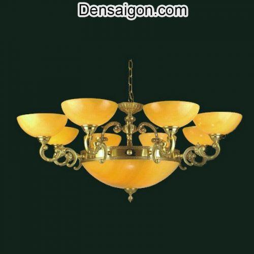 Đèn Chùm Đồng Chao Đá Kiểu Dáng Đẹp - Densaigon.com