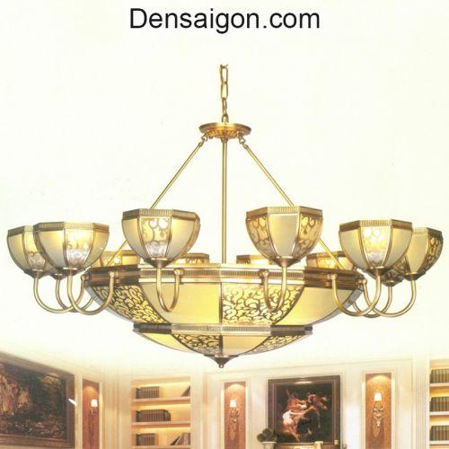 Đèn Chùm Đồng Đẹp Trang Trí Phòng Khách - Densaigon.com