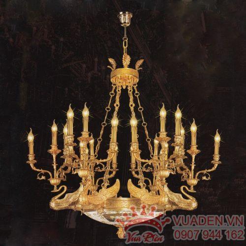 Đèn chùm đồng phong cách Classic trang trí biệt thự sang trọng - Densaigon.com