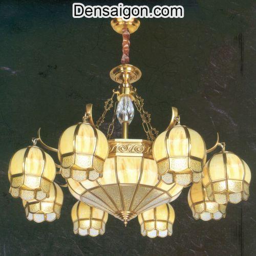 Đèn Chùm Đồng Thiết Kế Cổ Điển - Densaigon.com