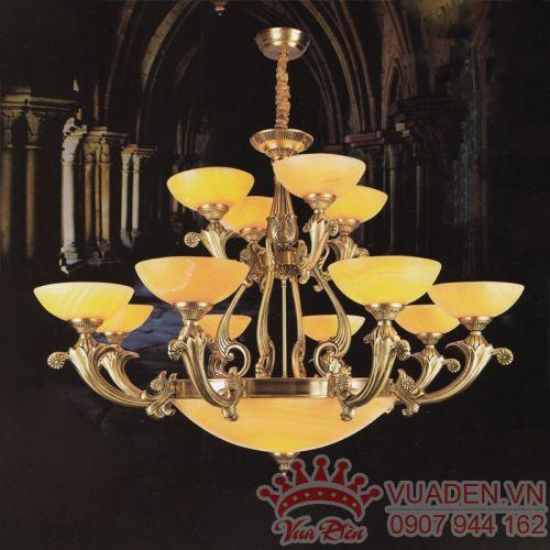 Đèn chùm đồng trang trí nhà hàng ấn tượng - Densaigon.com