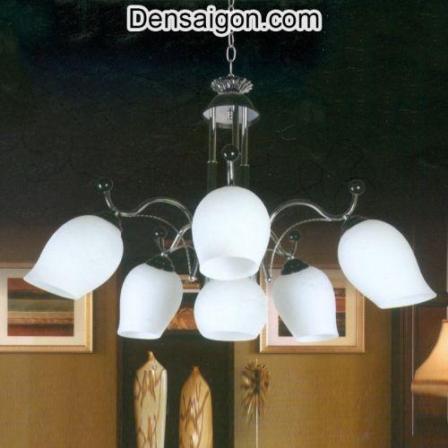 Đèn Chùm Cổ Điển Màu Trắng Trang Nhã - Densaigon.com