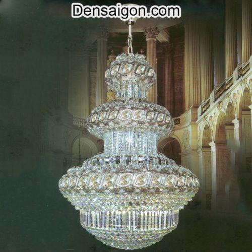 Đèn Chùm LED Pha Lê Treo Phòng Khách - Densaigon.com