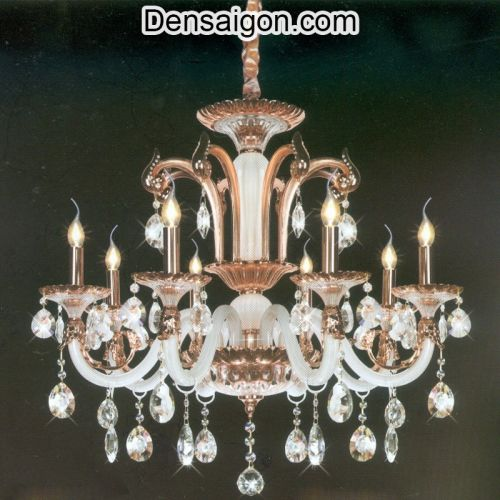 Đèn Chùm Nến Pha Lê Đẹp Treo Phòng Khách - Densaigon.com