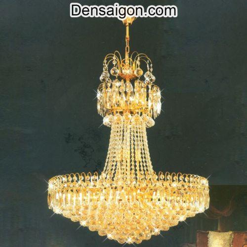 Đèn Chùm Pha Lê Đẹp Treo Phòng Khách - Densaigon.com