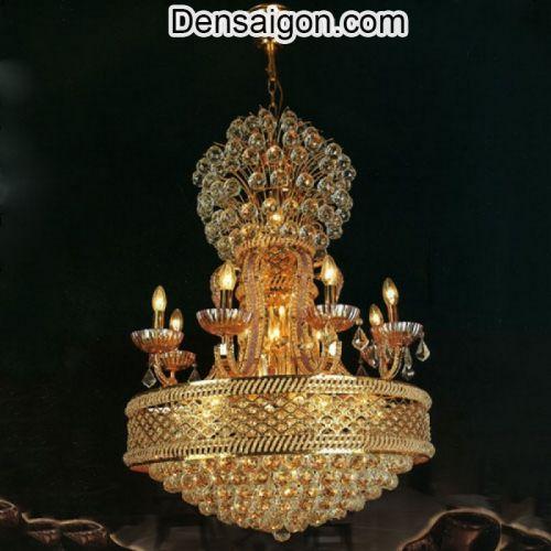 Đèn Chùm Pha Lê Nến Kiểu Dáng Hoành Tráng - Densaigon.com