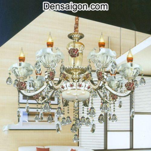 Đèn Chùm Pha Lê Nến Sang Trọng Tinh Tế - Densaigon.com