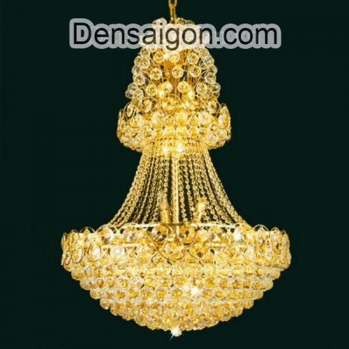 Đèn Chùm Pha Lê Phòng Khách Phong Cách Quí Phái - Densaigon.com