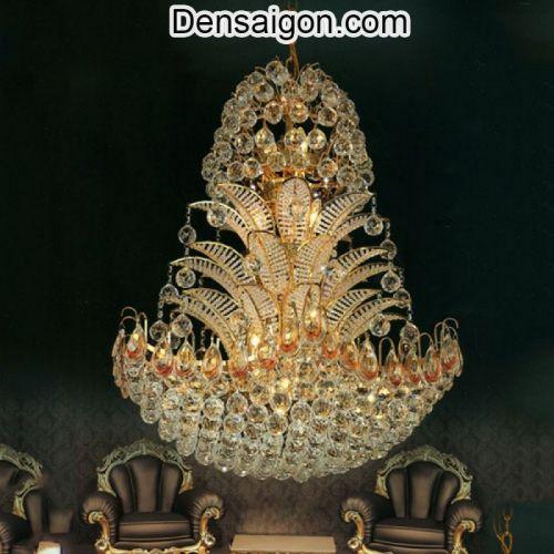 Đèn Chùm Pha Lê Phòng Khách Thiết Kế Độc Đáo - Densaigon.com