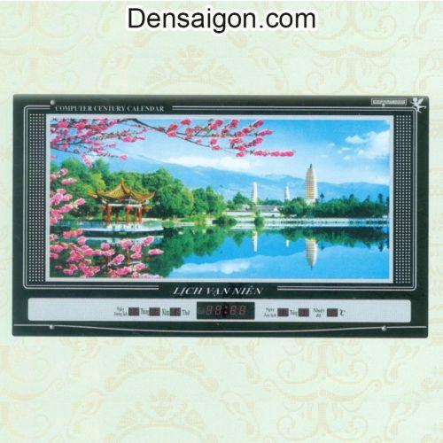 Tranh Đồng Hồ Phong Cảnh Đẹp - Densaigon.com