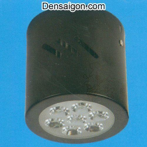 Đèn Lon Nổi LED Tròn Màu Đen - Densaigon.com