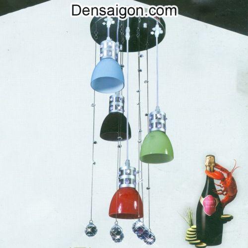 Đèn Thả Pha Lê Hiện Đại 4 Màu - Densaigon.com