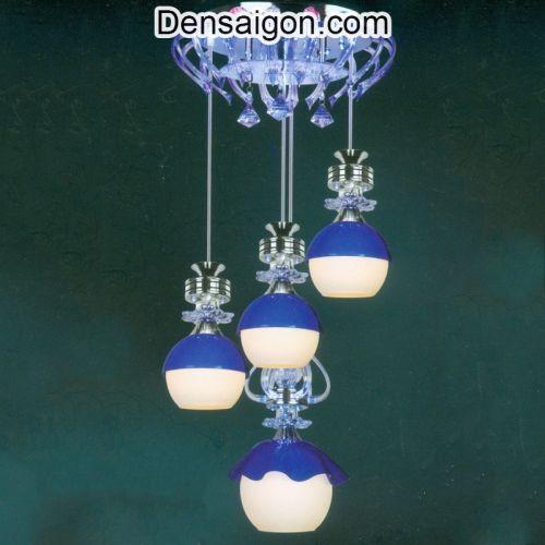 Đèn Thả Pha Lê Hiện Đại Sắc Xanh - Densaigon.com