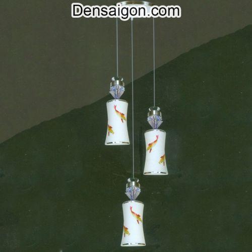 Đèn Thả Pha Lê Hoa Văn Con Cá - Densaigon.com