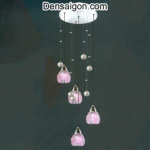 Đèn Thả Pha Lê Màu Hồng Ngọt Ngào - Densaigon.com