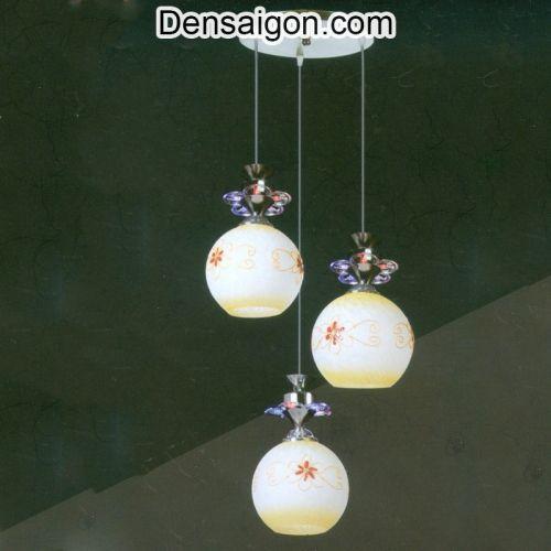 Đèn Thả Pha Lê Màu Kem Trang Nhã - Densaigon.com