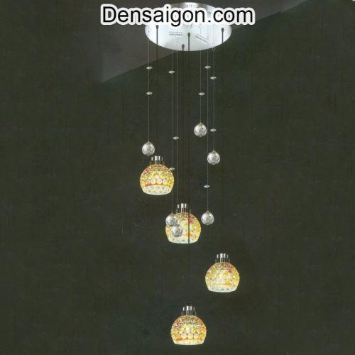 Đèn Thả Pha Lê Màu Vàng Tinh Xảo - Densaigon.com