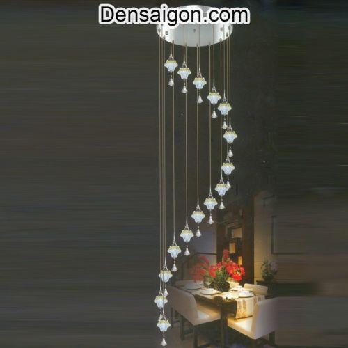Đèn Thả Pha Lê Thông Tầng Giá Rẻ - Densaigon.com