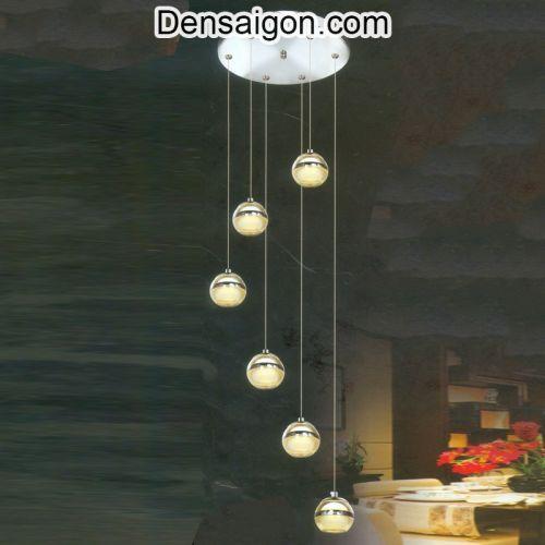 Đèn Thả Pha Lê Thông Tầng Hiện Đại - Densaigon.com