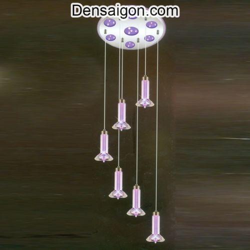 Đèn Thả Pha Lê Thông Tầng Màu Tím - Densaigon.com