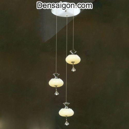 Đèn Thả Pha Lê Thông Tầng Treo Phòng Khách Đẹp - Densaigon.com