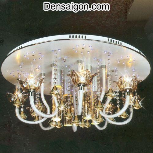 Đèn Chùm Pha Lê LED Sắc Vàng Sang Trọng - Densaigon.com