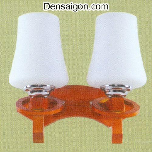 Đèn Tường Gỗ 2 Tay Màu Trắng Đẹp - Densaigon.com