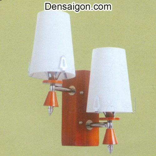 Đèn Tường Gỗ Dù 2 Tay Phong Cách - Densaigon.com