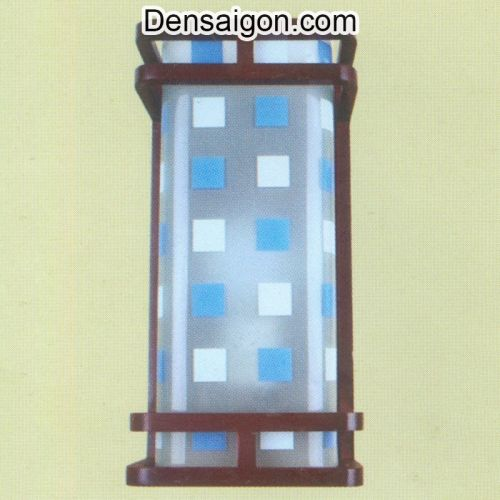 Đèn Tường Gỗ Trắng Xanh Trẻ Trung - Densaigon.com