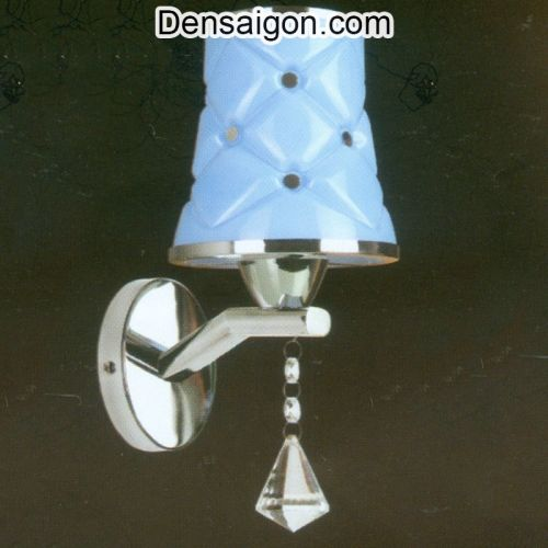 Đèn Tường Inox Dù Màu Xanh - Densaigon.com