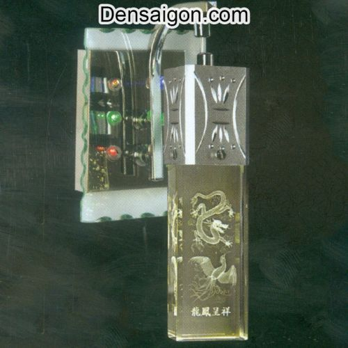 Đèn Tường Inox Họa Tiết Long Phụng - Densaigon.com