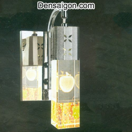 Đèn Tường Inox Hoa Văn Trái Táo - Densaigon.com