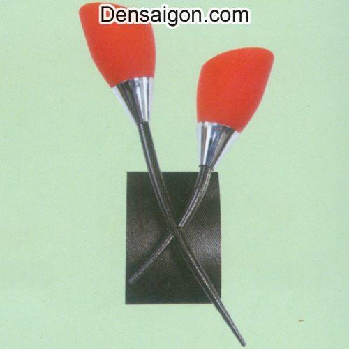 Đèn Tường Inox Màu Cam 2 Tay Đẹp - Densaigon.com