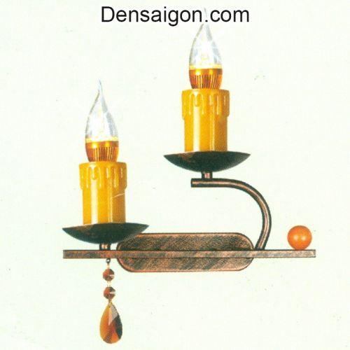Đèn Tường Pha Lê Nến Màu Vàng - Densaigon.com
