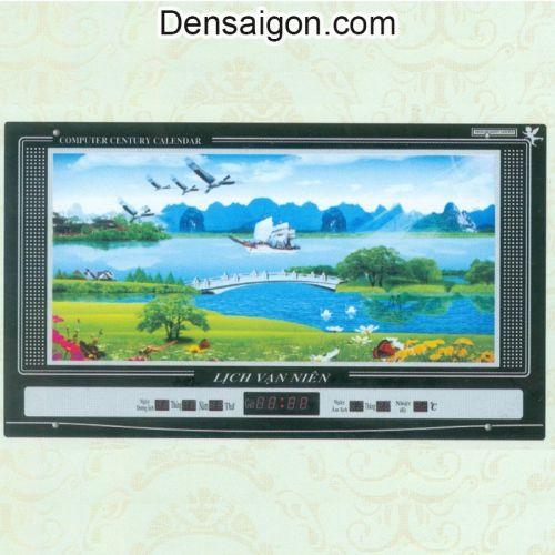 Tranh Đồng Hồ Phong Cảnh Đẹp Treo Tường - Densaigon.com