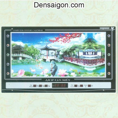 Tranh Đồng Hồ Phong Cảnh Hữu Tình - Densaigon.com